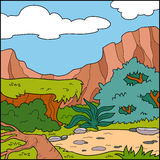 Vector illustration, background (savanna) Royalty Free Stock Photos