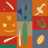 Vector illustration of background in the style of Henri Matisse royalty free illustration