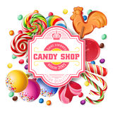 Vector illustration background of sweets Stock Photography