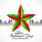 UAE Happy National Day. Royalty Free Stock Photos