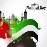 UAE Happy National Day. Royalty Free Stock Photo