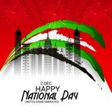 UAE Happy National Day. Royalty Free Stock Image