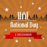 UAE Happy National Day. Stock Images