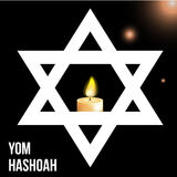 Vector illustration of a background for Yom Hashoah -remembrance Day Royalty Free Stock Photography