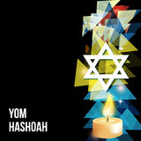 Vector illustration of a background for Yom Hashoah -remembrance Day Stock Photo