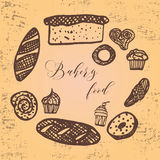 Vector illustration of bakery collection. Royalty Free Stock Images