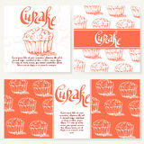 Vector illustration. Bakery design. Beautiful card with decorative typography element.  Royalty Free Stock Photography
