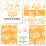 Vector illustration. Bakery design. Beautiful card with decorative typography element.  Cafe menu template with hand drawn design. Stock Photos