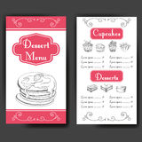 Vector illustration. Bakery design. Beautiful card with decorative typography element. Cafe menu template with hand drawn design. Royalty Free Stock Photos