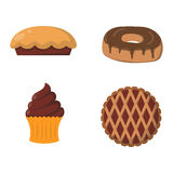 Vector illustration bakery products. Royalty Free Stock Photography