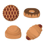 Vector illustration bakery products. Royalty Free Stock Photo
