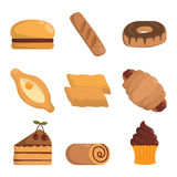 Vector illustration bakery products. Stock Image