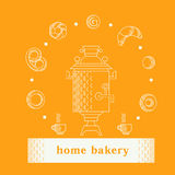 Vector illustration with bakery products Royalty Free Stock Photography