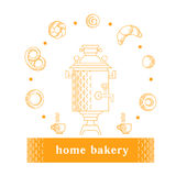 Vector illustration with bakery products Royalty Free Stock Photo