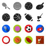 Vector illustration of ball and soccer icon. Collection of ball and basketball stock vector illustration. Isolated object of ball and soccer symbol. Set of ball stock illustration