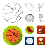 Vector design of ball and soccer symbol. Collection of ball and basketball vector icon for stock. Vector illustration of ball and soccer sign. Set of ball and vector illustration