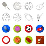 Vector design of ball and soccer icon. Set of ball and basketball vector icon for stock. Vector illustration of ball and soccer symbol. Collection of ball and vector illustration