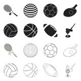 Vector design of ball and soccer icon. Collection of ball and basketball stock symbol for web. Vector illustration of ball and soccer symbol. Set of ball and stock illustration