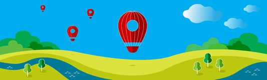 Vector illustration with a balloon stock illustration