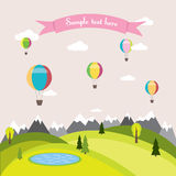 Vector illustration of a balloon Royalty Free Stock Images