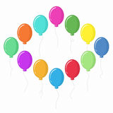 Vector illustration of balloons Stock Image