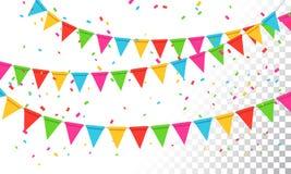 Vector Illustration Banderol Party Celebration Background. Banderol Party Celebration Background for Birthday royalty free illustration