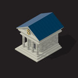 Vector illustration of bank building vector illustration