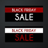 Vector illustration of a banner Black Friday Stock Image