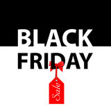 Vector illustration. Banner Black Friday sales Stock Photos
