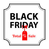 Vector illustration. Banner Black Friday sales Stock Photo