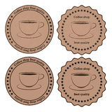 Vector illustration of a banner coffee Stock Photos