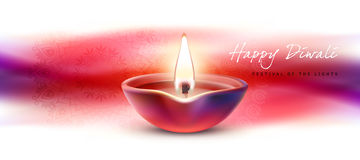 Vector illustration, banner, greeting card template for Diwali to Diwali elements. Stock Images