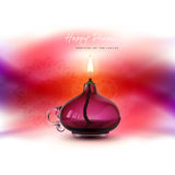 Vector illustration, banner, greeting card template for Diwali to Diwali elements. Stock Photography