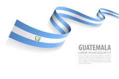 Vector Banner with Guatemala Flag colors. Vector Illustration Banner with Guatemala Flag colors in a perspective view vector illustration