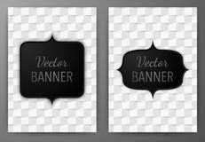 Vector illustration of a banner invitations a4 Royalty Free Stock Image