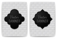 Vector illustration of a banner invitations. texture bricks Stock Image