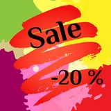 Banner Sale on an abstract background and spots. Vector illustration. Banner Sale on an abstract background and spots vector illustration