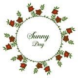 Vector illustration banner sunny day with ornate of flower frame. Hand drawn stock illustration