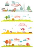 Vector illustration banners for tourism or camp Stock Image