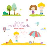 Vector illustration banners for tourism or camp Royalty Free Stock Photo