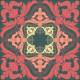 Vector illustration with baroque ornaments Royalty Free Stock Photos