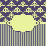 Vector illustration with baroque ornaments in Stock Image