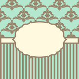 Vector illustration with baroque ornaments in Victorian style. Royalty Free Stock Photos