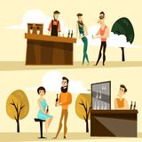 Vector beer party people icon set Royalty Free Stock Images