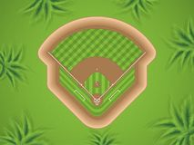 A vector illustration of a baseball field at park. Top view Royalty Free Stock Image