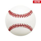 Vector illustration of baseball leather ball Stock Image