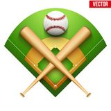 Vector illustration of baseball leather ball and Royalty Free Stock Photography