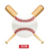Vector illustration of baseball leather ball and Stock Images