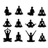 Vector illustration Basic meditation Poses Stock Photography