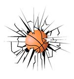 Illustration of a Basketball royalty free stock image